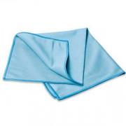 Салфетка из микрофибры для стекла 40*40 см 270г, цвет голубой