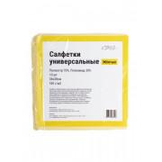Салфетка из микроспана 38*38 см, 10г/м, желтый, упаковка 10 штук