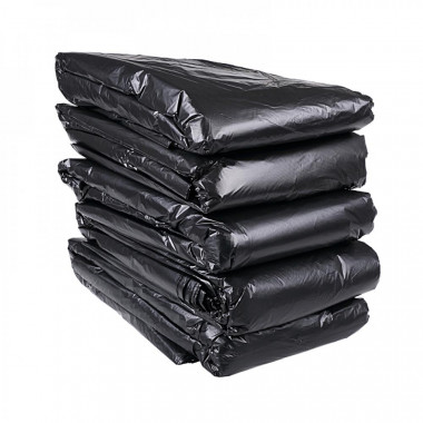 Фото Мешки для мусора 120л Lux GLIONNI черные, пласт 250 штук