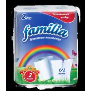 Полотенца бумажные FAMILIA Rainbow 2 сл 2рул 1/2 листа