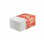 Туалетная бумага листовая Focus 2 слойная 250шт белый система T3