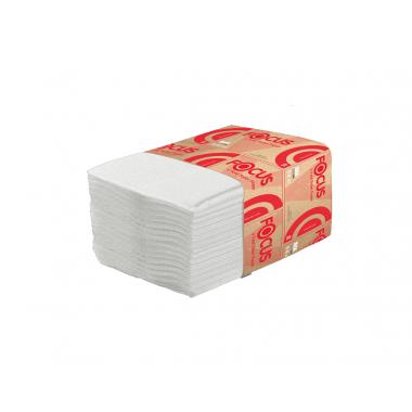 Фото Туалетная бумага листовая Focus 2 слойная 250шт белый система T3