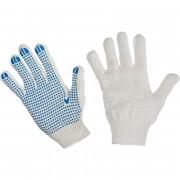 Перчатки х/б с ПВХ покрытием, 4 нити, 10 класс, упаковка 10 пар