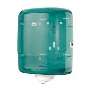 Диспенсер для рулонных полотенец с центральной вытяжкой Tork Reflex М4 пластиковый синий