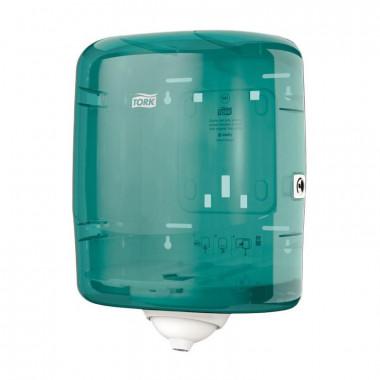 Фото Диспенсер для рулонных полотенец с центральной вытяжкой Tork Reflex М4 пластиковый синий