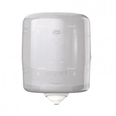 Фото Диспенсер для рулонных полотенец с центральной вытяжкой Tork Reflex М4 пластиковый белый