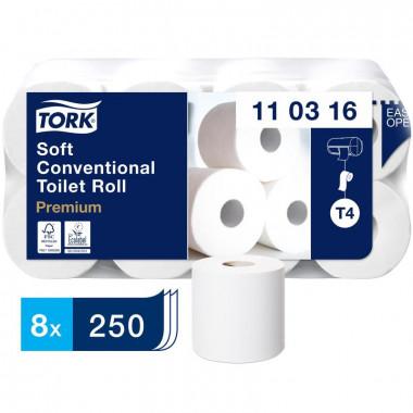 Фото Бумага туалетная Tork Premium 110316 Т4 3-слойная белая