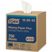 Протирочная бумага Tork W1/W2/W3 белая, 255 метров в рулоне