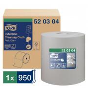 Нетканый протирочный материал Tork 520304 W1/W2/W3 серый, 361 метр в рулоне