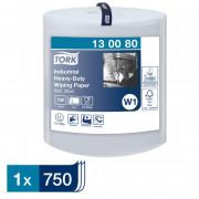 Протирочная бумага Tork 130080 W1 голубая, 255 метров в рулоне