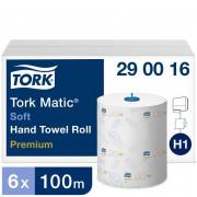 Бумажные полотенца в рулонах TORK 2 слойные белый 100м , 6 шт/упак