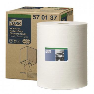 Фото Нетканый протирочный материал Tork W3 570137 белый, 160 листов в рулоне