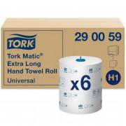 Бумажные полотенца в рулонах TORK 1 слойные белый 280м , 6 шт/упак