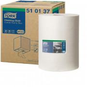 Нетканый протирочный материал Tork 510137 W1/W2/W3 белый, 152 метра в рулоне