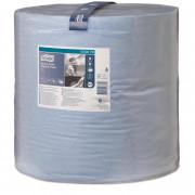 Бумага протирочная Tork W1, 2-слойная, голубая, 340 м, 1000 листов в упаковке