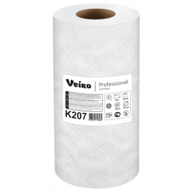 Фото Бумажные полотенца в малых рулонах Veiro Professional Comfort белые двухслойные (24 рулона по 12,5 метра)
