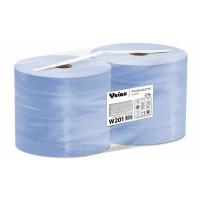 Протирочный материал в рулонах Veiro Professional Comfort двухслойный синий, 2 рулона по 1000 листов, 350 м