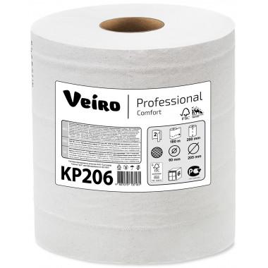 Фото Полотенца бумажные в рулонах с центральной вытяжкой Veiro Professional Comfort, 2 слойные, 180м