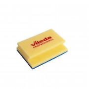 Губка для уборки Vileda Professional Деликатная 165х130 мм желтая/синий абразив