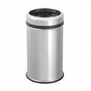 WHS Корзина-Урна для мусора 11 л б/кр,Хром мат из нержавеющей стали, h:38 сm Ø:20,5 cm