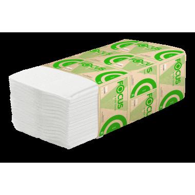 Фото Бумажные полотенца листовые Focus 1 слойные 250 шт Система H3, 20шт/упак