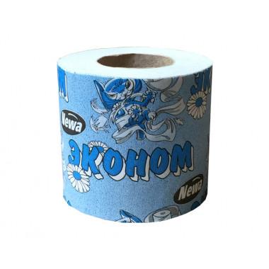 Фото Туалетная бумага Эконом плюс, 54 м с втулкой, в коробке 72 рулона