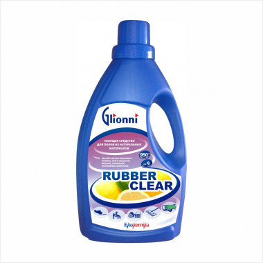 Фото RUBBER CLEAR Средство для глубокой очистки полов ручным и машинным способом 0,95л 1/12