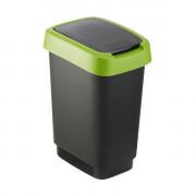 Rotho Контейнер для мусора Twist, черный/зелёный, 10 л
