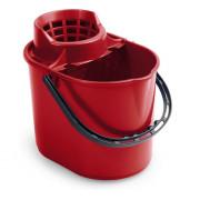 Ведро TTS 12л пластиковое с отжимом красное