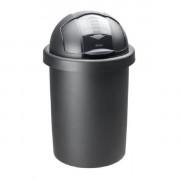 Rotho Ведро для мусора Roll Bob, черное, 30 л