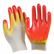 Перчатки х/б двойной облив, латексное покрытие