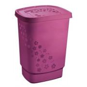 Корзина для белья Rotho 55 л Flowers розовый