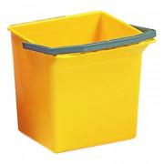 Ведро пластик 25л для уборочных тележек желтое