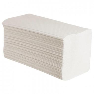 Фото Бумажные полотенца листовые V сложения 1 слойные 250 шт Система H3, 20шт/упак