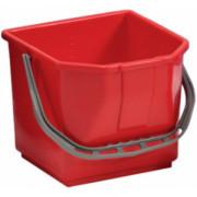 Ведро TTS пластиковое с ручкой, красное, 15 л