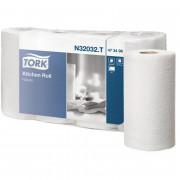 Бумажные полотенца в рулонах TORK 2 слойные белый 204м , 4 шт/упак