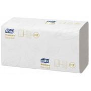 Бумажные полотенца листовые TORK 2 слойные 100 шт Система H2, 20шт/упак
