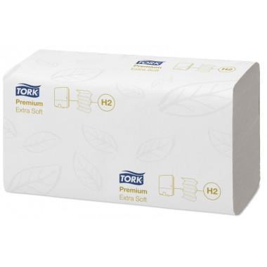 Фото Бумажные полотенца листовые TORK 2 слойные 100 шт Система H2, 20шт/упак