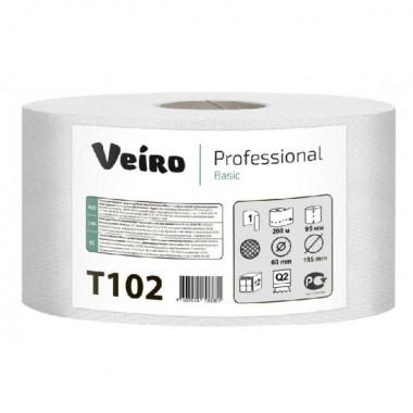Фото Туалетная бумага Veiro Professional Basic, 1 слойная, 200 м 1/12