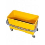 Ведро для мойки окон на колесах 25л желтое