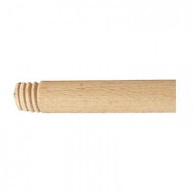 Фото Черенок для щетки деревянный с резьбой 120см