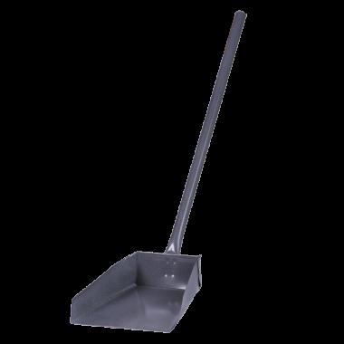 Фото Совок для мусора металлический с длинной ручкой