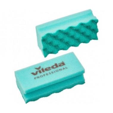Фото Губки для мытья посуды и уборки Vileda Professional ПурАктив 140х63х45 мм 10 штук в упаковке зеленые