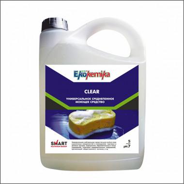 Фото CLEAR Универсальное моющее средство для всех видов поверхностей 5л 1/4 ПЭТ