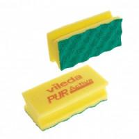 Губки для мытья посуды и уборки Vileda Professional ПурАктив 140х63х45 мм 10 штук в упаковке желтые