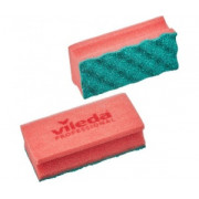 Губки для мытья посуды и уборки Vileda Professional ПурАктив 140х63х45 мм 10 штук в упаковке красные