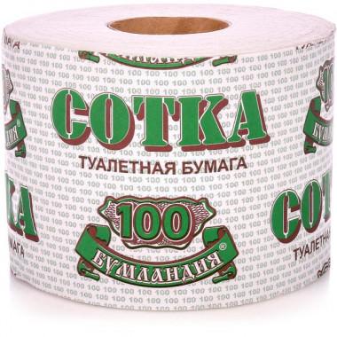 Фото Туалетная бумага Сотка, с втулкой
