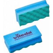 Губки для мытья посуды и уборки Vileda Professional ПурАктив 140х63х45 мм 10 штук в упаковке синие