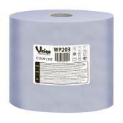 Протирочная бумага в рулонах с центральной вытяжкой Veiro Professional, W1/W2 синяя, 6 рулонов по 175 метров