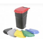 АТЛАС контейнер пластиковый на колесах с крышкой 100 л черный/красный